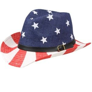 Other - KIDS AMERICAN FLAG COWBOY HAT 54CM